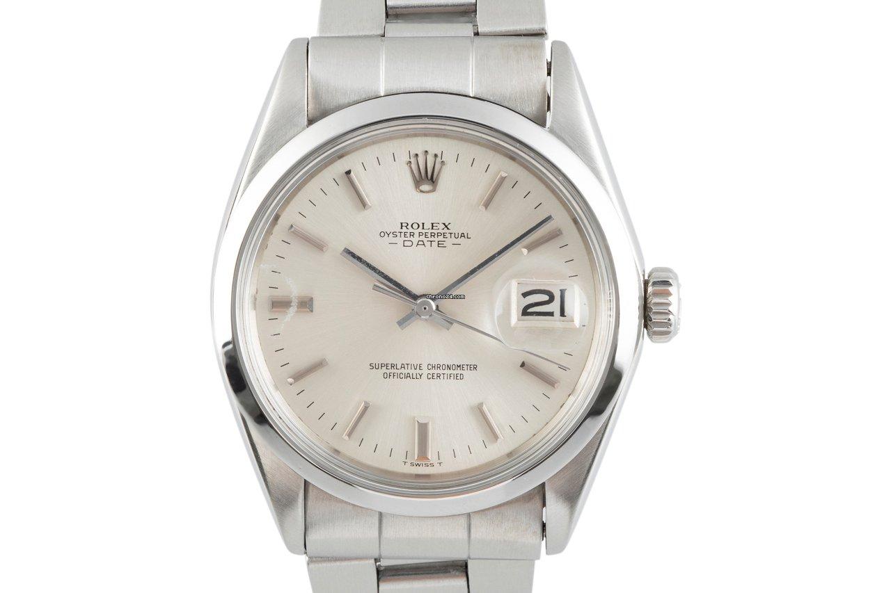 Rolex Oyster Perpetual Date 1500 1970 подержанные