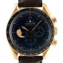 Omega Gelbgold Handaufzug Blau 42mm neu Speedmaster Professional Moonwatch