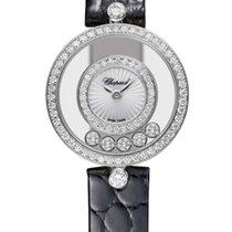 Chopard 203957-1214 Bílé zlato 2021 Happy Diamonds 26mm nové