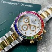 Rolex Daytona Ouro/Aço 40mm Branco