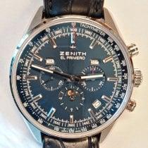 Zenith El Primero 410 Steel 42mm Blue No numerals