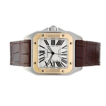 Cartier Santos 100 2656 Very good Gold/Steel 38mm Automatic