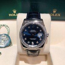 Rolex Datejust 116189 Nuevo Oro blanco 36mm Automático