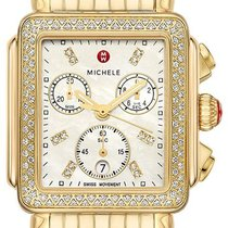 Michele Deco Yellow gold 33mm Mother of pearl United States of America, California, Moorpark