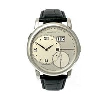 A. Lange & Söhne Platinum Manual winding Silver Roman numerals 41,9mm pre-owned Grand Lange 1