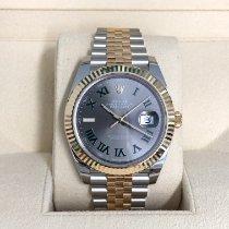 Rolex Datejust Золото/Cталь 41mm Cерый Без цифр