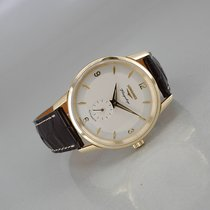 Longines Yellow gold Automatic Silver Arabic numerals 38,5mm pre-owned Flagship Heritage
