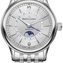 Maurice Lacroix Les Classiques Phases de Lune neu 2021 Automatik Uhr mit Original-Box und Original-Papieren LC6168-SS002-120-1