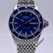 Mido Ocean Star Stal 40.5mm Niebieski Bez cyfr