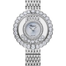 Chopard 204180-1201 Bílé zlato 2021 Happy Diamonds 30mm nové