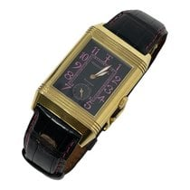 Jaeger-LeCoultre Red gold Manual winding Black Arabic numerals 26mm pre-owned Reverso Grande Taille