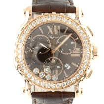 Chopard Happy Sport Red gold 42mm Brown