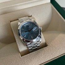 Rolex Day-Date 40 Platinum 40mm Blue No numerals Australia, NSW