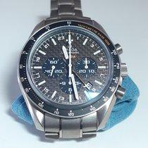 Omega Speedmaster HB-SIA pre-owned Brown Chronograph Date Titanium