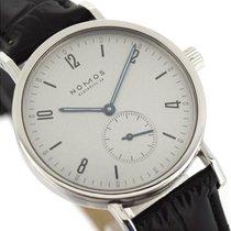 노모스 스틸 수동감기 은색 36mm 중고시계