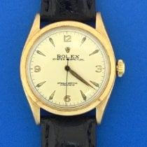 Rolex Bubble Back Yellow gold 33mm White No numerals United States of America, Texas, Houston