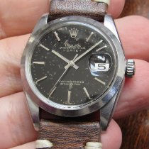 Rolex Oyster Perpetual Date Acero 34mm Negro Sin cifras