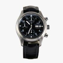 IWC Pilot Chronograph Acero 39mm Negro Arábigos España, Madrid