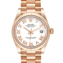 Rolex Rose gold Automatic White Roman numerals 31mm new Lady-Datejust