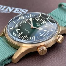 Longines Bronze Automatic Green Arabic numerals 42mm new Legend Diver