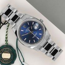 Rolex Oyster Perpetual Date Stål 34mm Blå