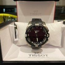 Tissot T-Touch Expert Solar подержанные 45mm Черный Хронограф Дата Индикатор дней недели Будильник GMT/две час.зоны Каучук