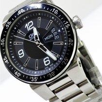 Oris TT1 Steel 42mm Black Arabic numerals