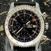 Breitling Navitimer GMT Steel 46mm Black No numerals