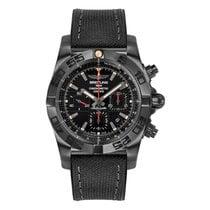 Breitling Chronomat 44 Blacksteel Сталь 44mm Черный Без цифр
