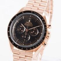 Omega Roségoud Handopwind Zwart 42mm nieuw Speedmaster Professional Moonwatch