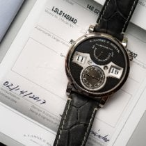 A. Lange & Söhne White gold Manual winding Black Arabic numerals 41.9mm pre-owned Zeitwerk