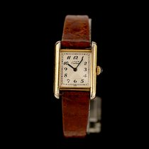 Cartier Tank Vermeil Silver 20mm White Arabic numerals
