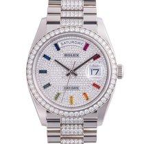 Rolex 128349RBR Or blanc 36mm nouveau