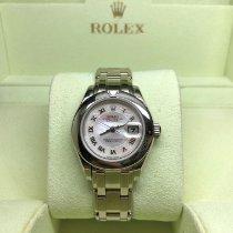 Rolex Lady-Datejust Pearlmaster Белое золото Перламутровый