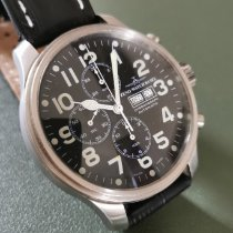 Zeno-Watch Basel OS Pilot Steel Black Arabic numerals