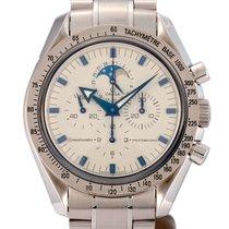 Omega Speedmaster Professional Moonwatch Moonphase Acero y oro 42mm Blanco
