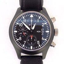 IWC 파일럿 크로노그래프 탑건 스틸 44mm 검정색 아라비아 숫자