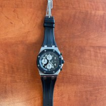 Audemars Piguet Royal Oak Offshore Chronograph folosit 42mm Negru Cronograf Data Cauciuc