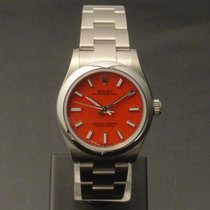 Rolex Oyster Perpetual 31 Steel 31mm Red No numerals