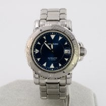 Montblanc pre-owned Automatic 38mm Blue Sapphire crystal