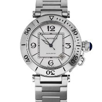 Cartier Pasha Seatimer Steel 40mm Silver Arabic numerals United States of America, Maryland, Baltimore, MD