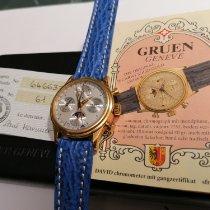Gruen Rose gold 37mm Automatic Vollkalendetanzeige mit Mondphase pre-owned