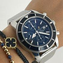 Breitling Superocean Heritage Chronograph Acier 46mm Noir Sans chiffres
