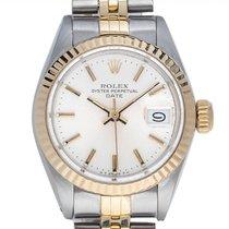 Rolex Oyster Perpetual Lady Date Aur/Otel 26mm Argint