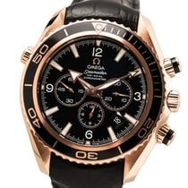 Omega Seamaster Planet Ocean Chronograph Red gold 45.5mm Black Arabic numerals