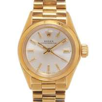 Rolex Oyster Perpetual usados 25mm Gris Oro amarillo