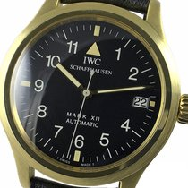 IWC Pilot Mark Желтое золото 36mm Черный Aрабские