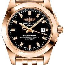 Breitling Rose gold Quartz Black 29mm new Galactic