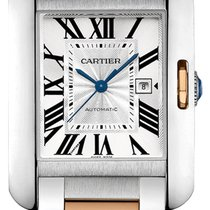 Cartier Tank Anglaise Steel 47mm Silver Roman numerals United States of America, California, Moorpark