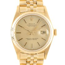 Rolex 16018 Yellow gold 1979 Datejust 36mm pre-owned